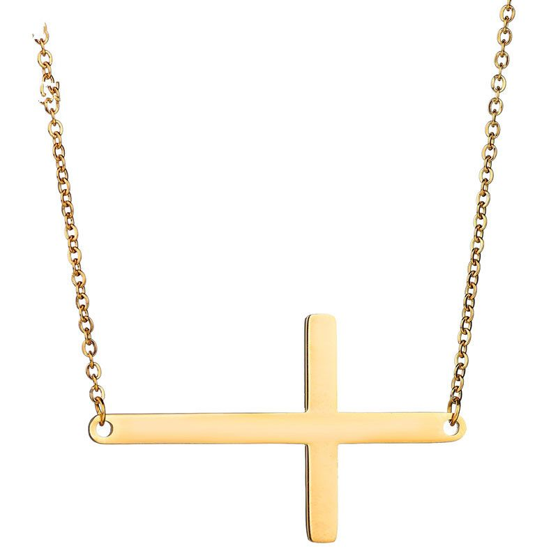 Titanium&Stainless Steel Korea Geometric necklace  (Steel color) NHHF1141-Steel-color
