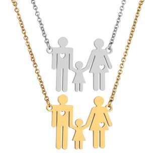 Titanium&Stainless Steel Fashion Cartoon necklace  (Steel color) NHHF1155-Steel-color's discount tags