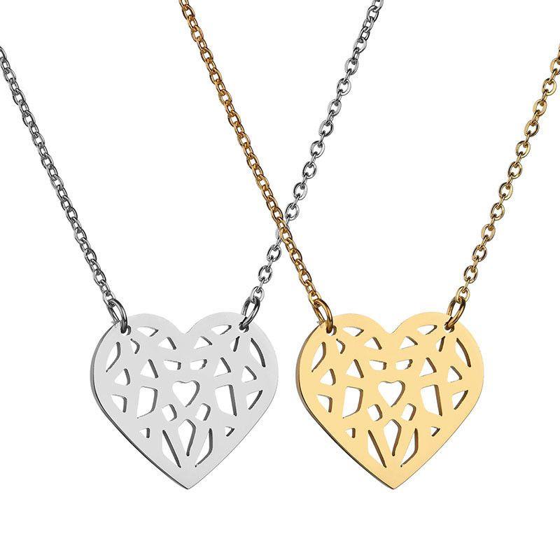 Titanium&Stainless Steel Korea Sweetheart necklace  (Steel color) NHHF1156-Steel-color