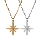 TitaniumStainless Steel Korea Geometric necklace  Steel color NHHF1116Steelcolor
