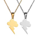 TitaniumStainless Steel Korea Geometric necklace  Steel color NHHF1145Steelcolor