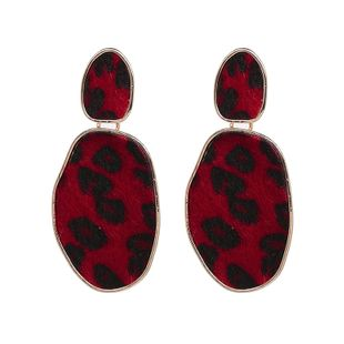 Alloy Fashion Geometric earring  (red) NHJJ5269-red's discount tags