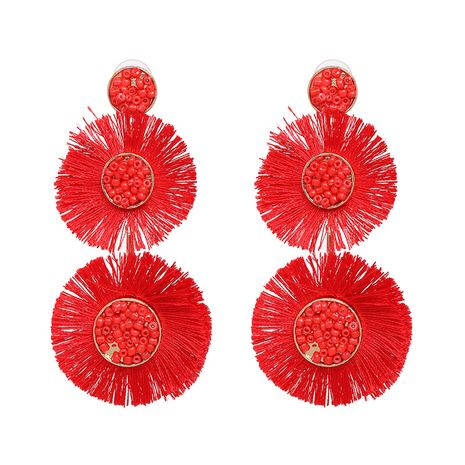 Cloth Fashion Flowers earring  (red) NHJJ5273-red's discount tags