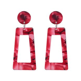Plastic Fashion Geometric earring  (red) NHJJ5283-red's discount tags