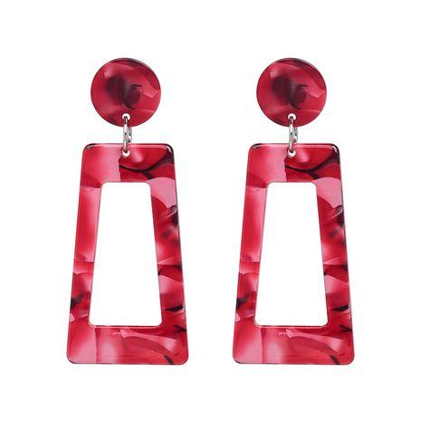 Plastic Fashion Geometric earring  (red) NHJJ5283-red's discount tags