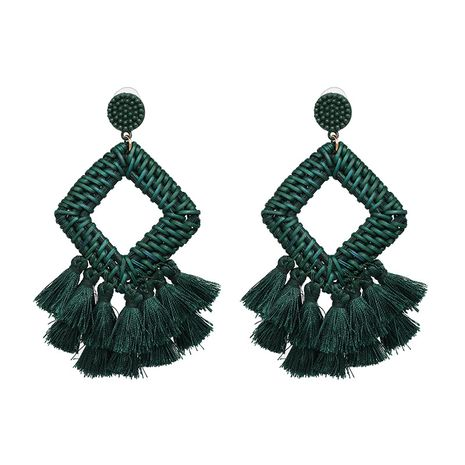Alloy Fashion Tassel earring  (green) NHJJ5284-green's discount tags