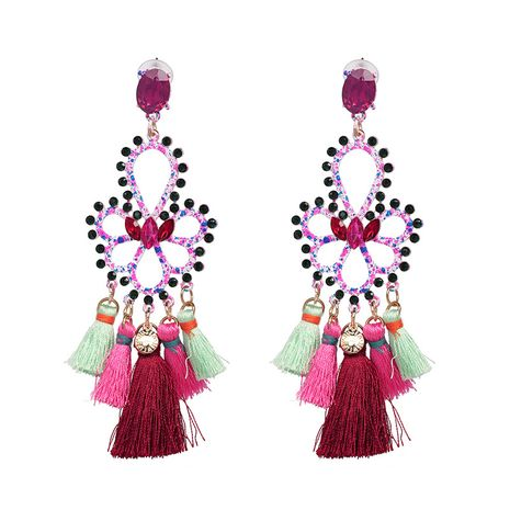 Cloth Fashion Flowers earring  (color) NHJJ5292-color's discount tags