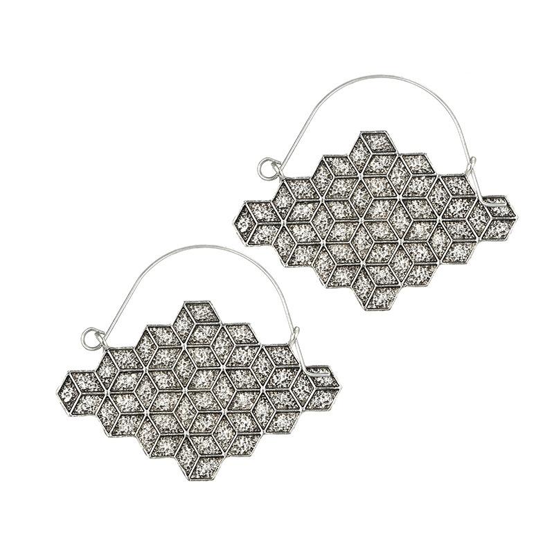 Alloy Vintage Geometric earring  (Alloy) NHGY2706-Alloy