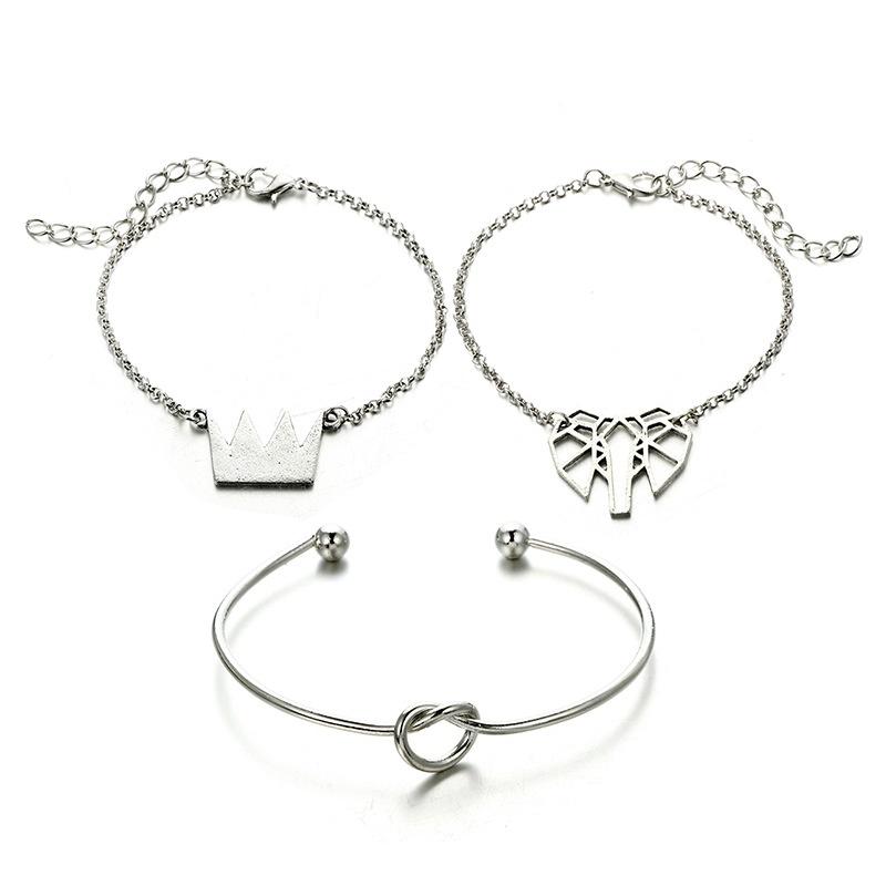 Alloy Simple Geometric bracelet  (Alloy) NHGY2713-Alloy