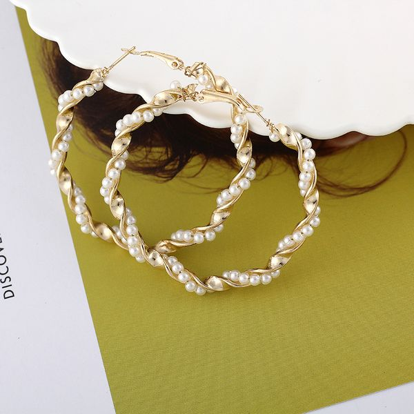 Alloy Vintage Geometric earring  (Alloy 5cm) NHIM1321-Alloy-5cm
