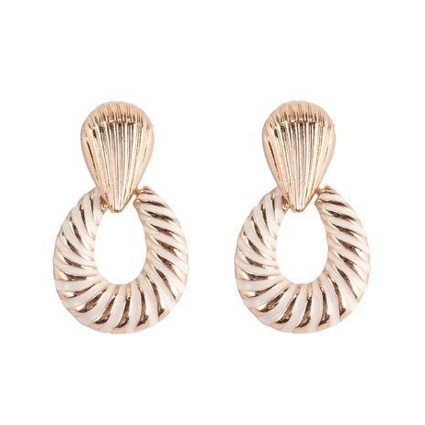 Alloy Fashion Geometric earring  (white) NHJQ10893-white's discount tags