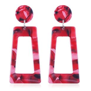 Alloy Fashion Geometric earring  (red) NHMD4892-red's discount tags