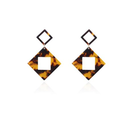 Alloy Fashion Geometric earring  (Leopard print) NHMD4908-Leopard-print's discount tags