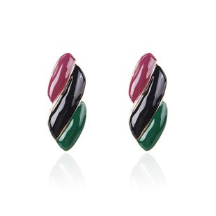Alloy Fashion Geometric earring  (Purple black green) NHMD4912-Purple-black-green's discount tags