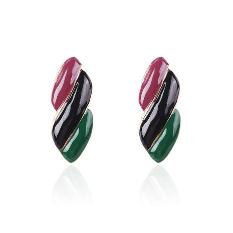 Alloy Fashion Geometric earring  (Purple black green) NHMD4912-Purple-black-green's discount tags