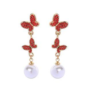 Alloy Fashion Animal earring  (Red-1) NHQD5784-Red-1's discount tags