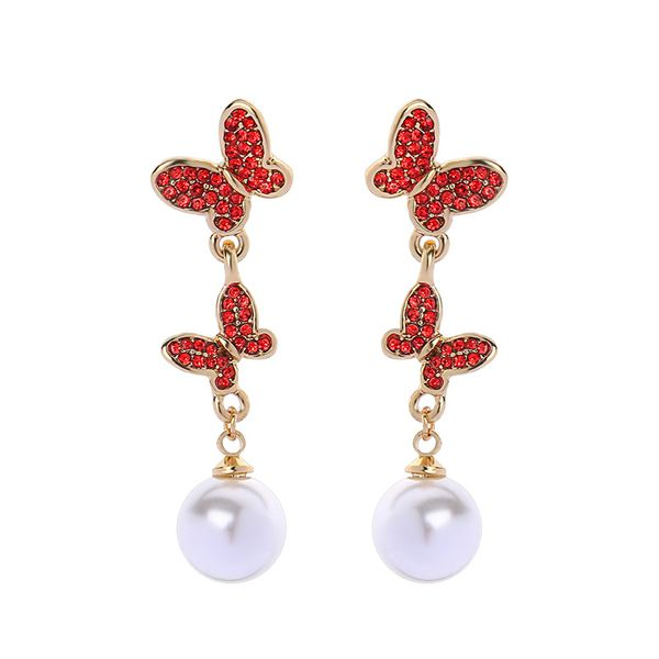 Alloy Fashion Animal earring  (Red-1) NHQD5784-Red-1