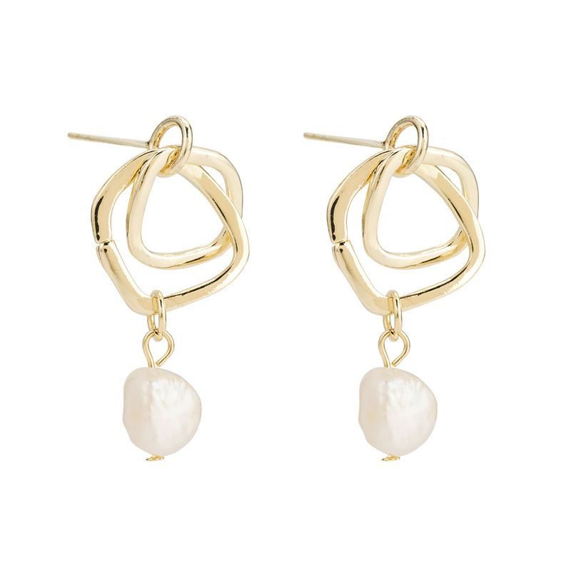 Copper Korea Geometric earring  (Alloy) NHYT1307-Alloy