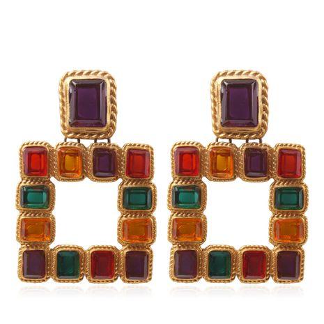 Alloy Korea Geometric earring  (Color + alloyen yellow) NHMD4937-Color-alloyen-yellow's discount tags