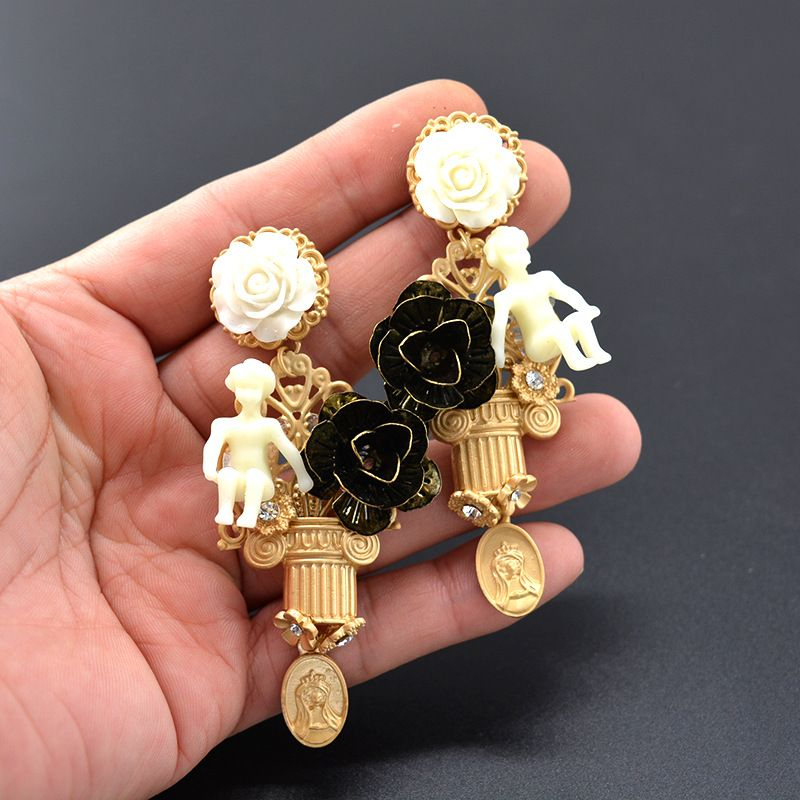 Alloy Vintage Flowers earring  Alloy NHNT0707Alloy