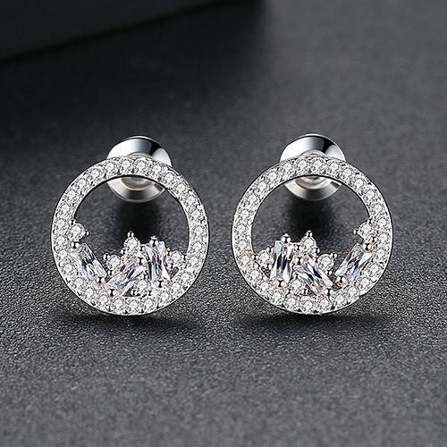 Alloy Fashion Geometric earring  (Platinum-T01H13) NHTM0432-Platinum-T01H13