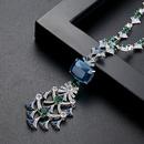 Alloy Fashion Geometric necklace  blueT21D14 NHTM0435blueT21D14