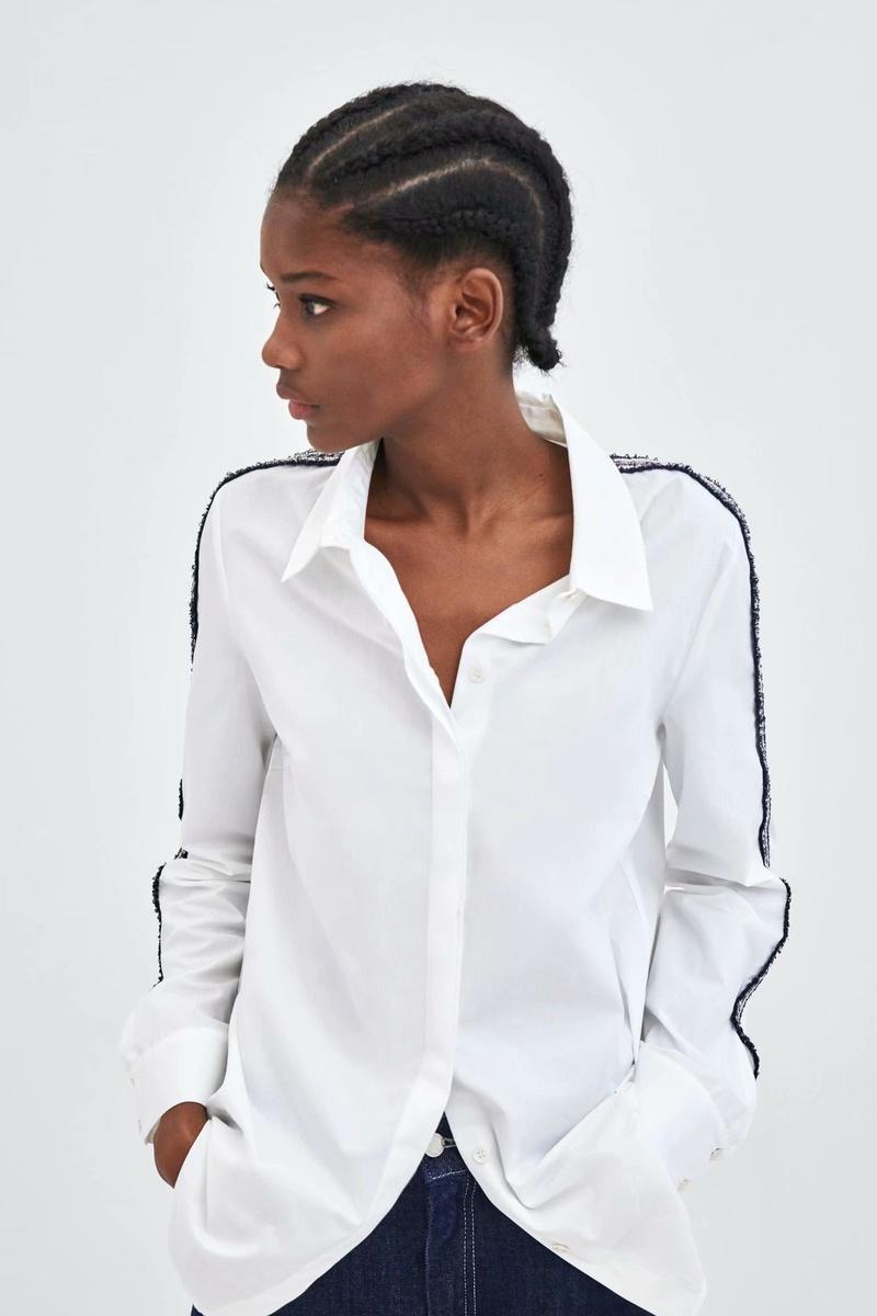 Cotton Fashion  coat  (White-S) NHAM6524-White-S