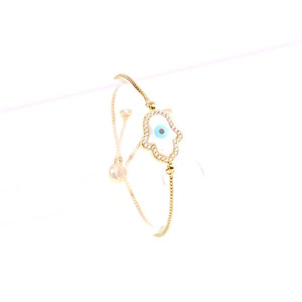 Zircon Fashion Geometric bracelet  (palm) NHPY0261-palm