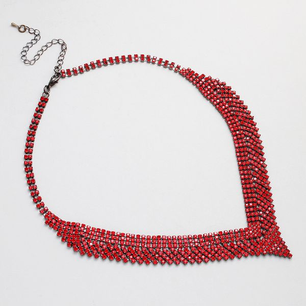 Alloy Fashion Tassel necklace  (red) NHHS0558-red