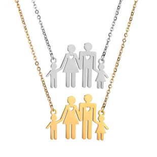 Titanium&Stainless Steel Simple Cartoon necklace  (Steel color) NHHF1167-Steel-color's discount tags