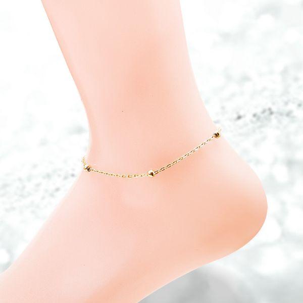 Titanium&Stainless Steel Korea Geometric Anklet  (Rose alloy) NHOK0427-Rose-alloy