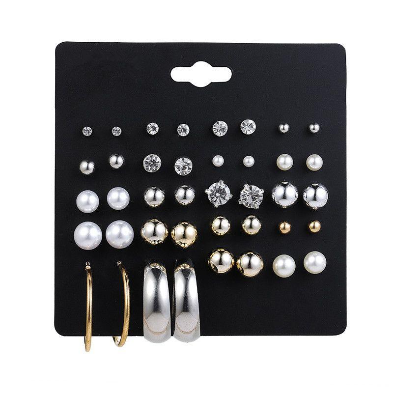 Plastic Korea Geometric earring  E02981 NHSD0444E02981