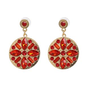 Alloy Fashion Geometric earring  (red) NHJJ5301-red's discount tags