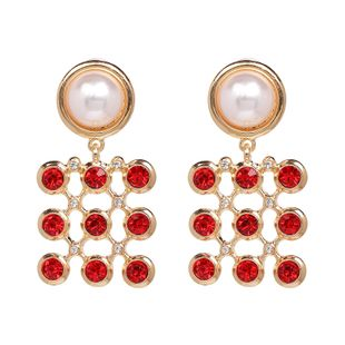 Alloy Fashion Geometric earring  (red) NHJJ5304-red's discount tags