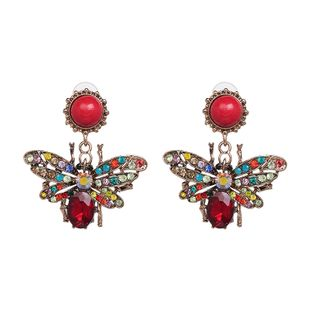 Alloy Fashion Geometric earring  (Red color) NHJJ5311-Red-color's discount tags