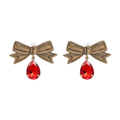 Alloy Fashion Bows earring  (red) NHJJ5315-red's discount tags