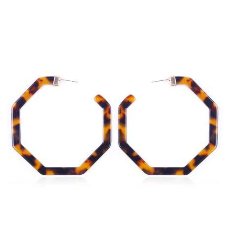 Plastic Korea Geometric earring  (Deep leopard) NHMD4951-Deep-leopard's discount tags