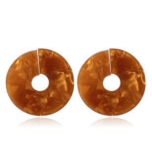 Plastic Korea Geometric earring  (coffee) NHMD4953-coffee's discount tags