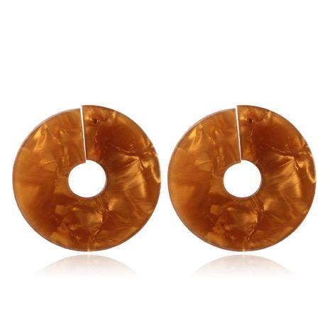 Plastic Korea Geometric earring  (coffee) NHMD4953-coffee's discount tags