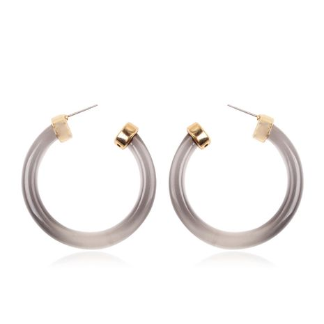 Plastic Korea Geometric earring  (Transparent gray) NHMD4954-Transparent-gray's discount tags