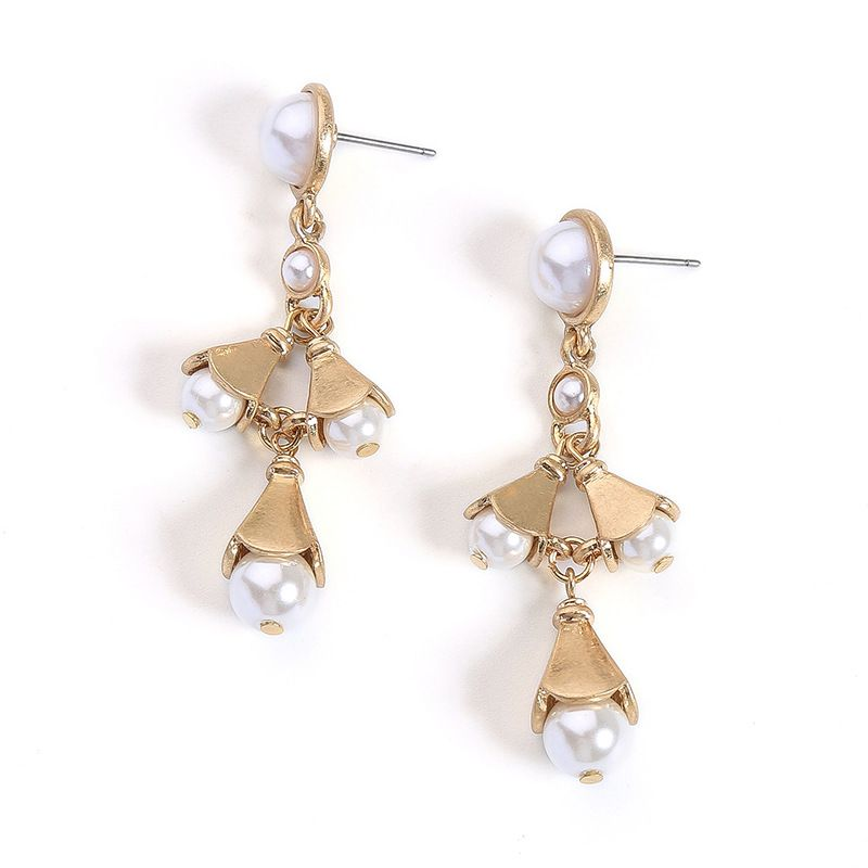 Alloy Fashion Flowers earring  (Photo Color) NHQD5832-Photo-Color