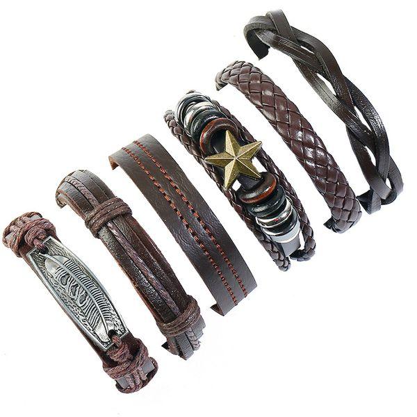 Leather Fashion bolso cesta bracelet  (Six-piece set) NHPK2176-Six-piece-set