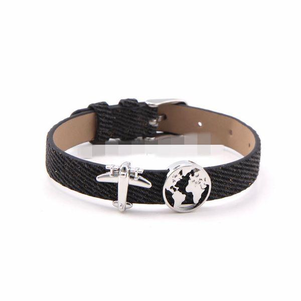 Alloy Simple Geometric bracelet  (black) NHSX0360-black