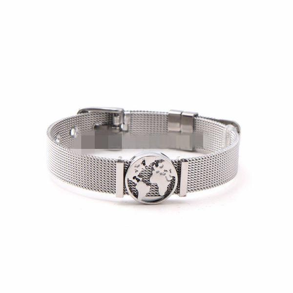 Titanium&Stainless Steel Simple Geometric bracelet  (Steel bracelet) NHSX0363-Steel-bracelet
