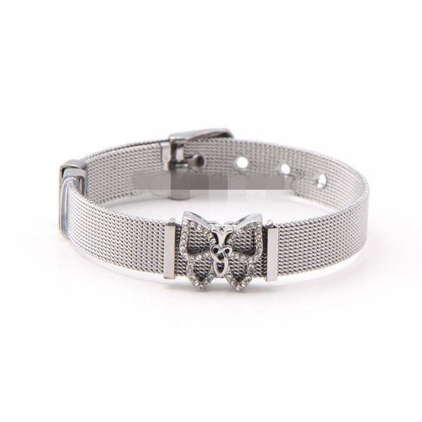Titanium&Stainless Steel Simple Geometric bracelet  (Steel bracelet) NHSX0368-Steel-bracelet