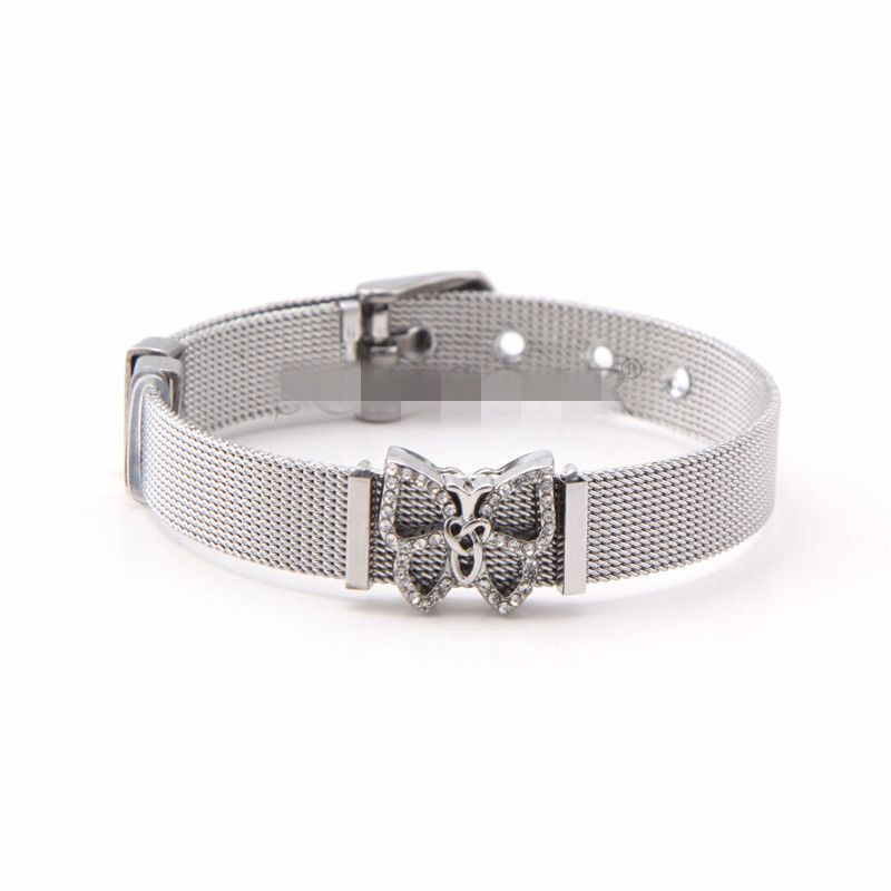 Titanium&Stainless Steel Simple Geometric bracelet  (Steel bracelet) NHSX0368-Steel-bracelet