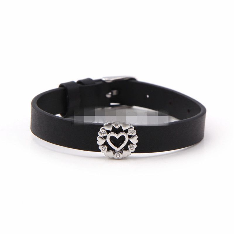Leather Simple Geometric bracelet  (Steel color) NHSX0373-Steel-color