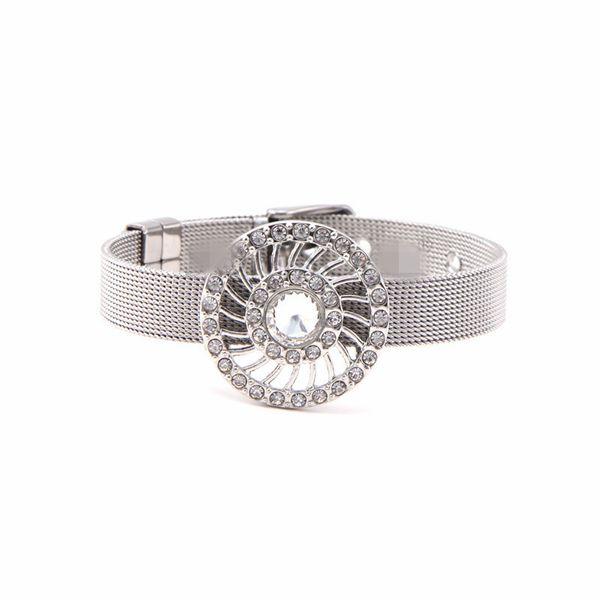 Titanium&Stainless Steel Simple Geometric bracelet  (Steel bracelet) NHSX0375-Steel-bracelet