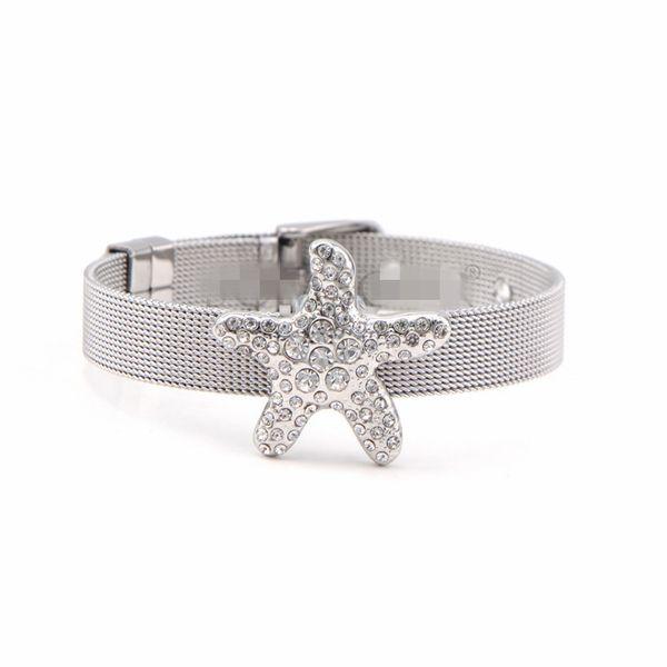 Titanium&Stainless Steel Simple Geometric bracelet  (Steel bracelet) NHSX0378-Steel-bracelet