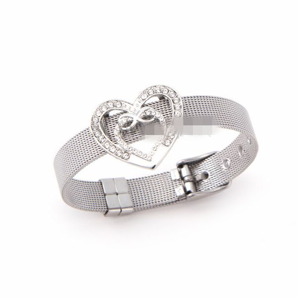 Titanium&Stainless Steel Simple Geometric bracelet  (Steel bracelet) NHSX0380-Steel-bracelet